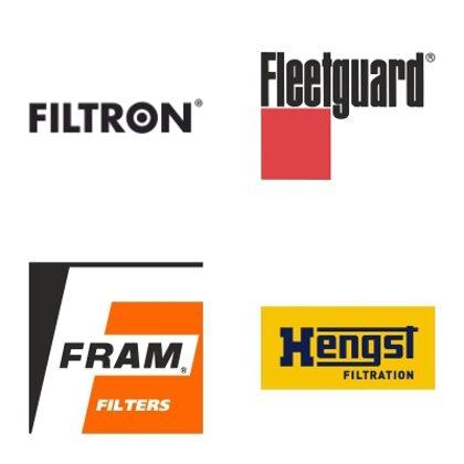 FILTRON, FLEETGUARD, FRAM, HENGST