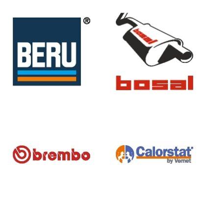 BERU, BOSAL, BREMBO, CALORSTAT (VERNET)